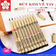 Bút kim, bút đi line vẽ kỹ thuật, vẽ phác thảo nghệ thuật SAKURA (đủ size lựa chọn)