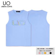 Áo Thun Ba Lỗ Nam Nữ URBAN OUTFITS In Chữ UO BLR02 Kiểu Tanktop Cổ Tròn Hàn Quốc Outfit 100% Cotton 4 Chiều