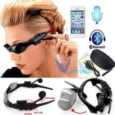 Kính mát kiêm tai nghe Bluetooth (Đen) + Tặng kèm bao da, Mắt kính Bluetooth Sport Grown Tech V4.1 AT120 (Đen) Mẫu Mới 2019 Kết Nối Bluetooth, Nghe Nhạc, Chống Bụi, Bảo Vệ Mắt Khỏi Tia Uv.
