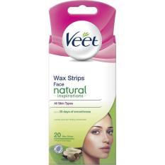 Miếng Dán Tẩy Lông Mặt Veet Face Precision Wax Strips – Da Thường