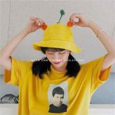 Mũ Maruko – Mũ tai bèo mũ bucket mũ rộng vành hình mầm cây – ( Vàng )