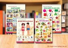 Bộ Tranh treo tường 12 chủ đề cho bé – Tăng khả năng nhận biết – gia dụng tiện ích cho cả nhà