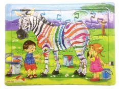 Tranh xếp hình cho bé 30 mảnh ghép khổ A4, Tia Sáng Việt Nam, Đồ chơi trí tuệ cho bé từ 3 tuổi