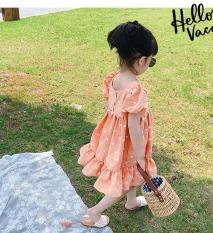[FREESHIP Đầm bé gái] – Váy công chúa cho bé tay bồng chất lụa mềm mát