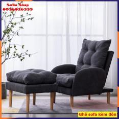 Ghế sofa thư giãn, ghế lười kèm đôn ngả thành giường đa năng, 3 mức điều chỉnh ghế, có thể tháo ra vệ sinh