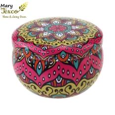 Nến thơm hoa khô thiên nhiên Mary Texco hương thơm dịu nhẹ, quyến rũ, xông phòng khử mùi, giảm căng thẳng, nguyên liệu sáp đậu nành, thảo mộc trong thiết kế vỏ hộp thiếc tinh tế [14 hương thơm phong phú]