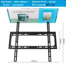 [Nhập ELJAN11 giảm 10%, tối đa 200k, đơn từ 99k]Khung treo Tivi áp tường cho mọi Tivi từ 26-65 inch (bản siêu dày tải trọng tới 65kg) – Hàng Nhập Khẩu