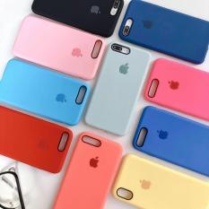Ốp lưng iphone chống bẩn màu trơn chất liệu mềm mịn kèm logo táo snag chảnh đủ mã 6 6s 6plus 6splus 7 8 7plus 8plus X XS XR XSMAX