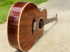 Đàn guitar Acoustic full solid gỗ hồng đào cao cấp chọn lọc có ty chỉnh cần – Được bảo hành 2 năm