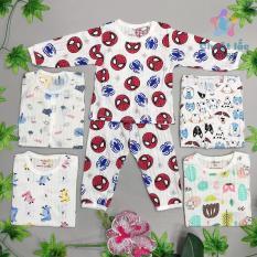 Bộ quần áo trẻ em dài tay, đồ bộ cotton giấy cho bé trai bé gái từ 4kg đến 22kg hàng VN [Chuột Lắc Store]