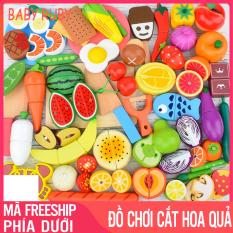 Bộ Đồ Chơi Cắt Hoa Quả – 30 chi tiết, chất liệu cao cấp, an toàn cho bé khi chơi – Đồ chơi cắt hoa quả cho bé, cắt hoa quả nam châm bằng gỗ, bộ đồ chơi rau củ quả cắt, bộ cắt hoa quả đồ chơi, đồ chơi cắt trái cây