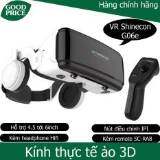 Kính thực tế ảo 3D VR Shinecon G06E – kèm tai nghe + remote Vr shinecon SC-RA8