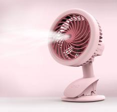 Quạt phun sương mini – quạt hơi nước tích điện để bàn xoay 360 độ cực mát , chạy nguồn 5V tiện lợi