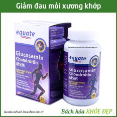 Viên uống bổ xương khớp Glucosamin equate giảm đau nhức mỏi xương khớp, giảm thoái hóa khớp – Hộp 60 viên mỗi ngày dùng chỉ 3 viên