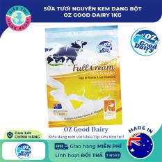 [CHÍNH HÃNG] Sữa tươi nguyên kem dạng bột OZ GOOD DAIRY 1kg [sữa nguyên kem; hòa tan nhanh; bổ sung vitamin A, vitamin D, protein] Hàng Úc (được bán bởi Siêu Thị Hàng Ngoại)