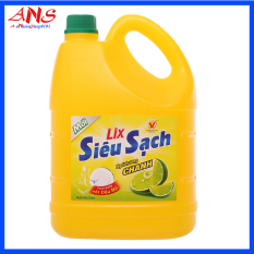 Nước rửa chen Lix Siêu Sạch hương chanh 4kg