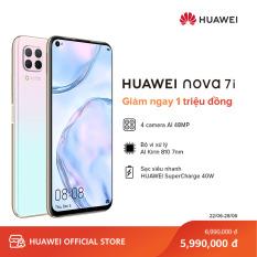 Điện thoại Huawei Nova 7i (8GB/128GB) – Bộ 4 camera sau chụp ảnh linh hoạt – Màn hình LCD 6.4 inch độ phân giải Full HD+ Cảm biến vân tay tích hợp nút nguồn – Pin 4200 mAh với công nghệ sạc nhanh HUAWEI SuperCharge – Hàng phân phối chính hãng
