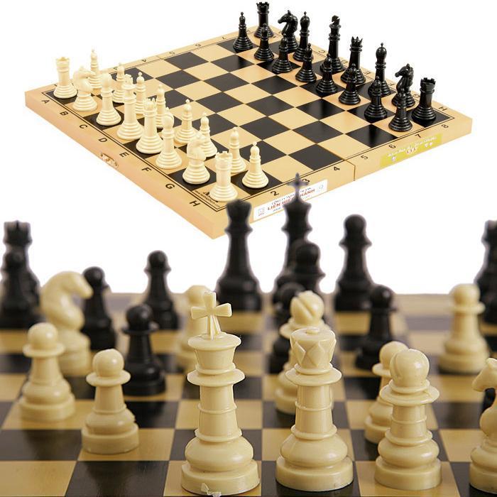 Bộ bàn Cờ Vua cỡ lớn chuẩn quốc tế hộp nhựa xếp gọn
