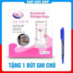 [ Tặng bút ghi chú ] Hộp 50 túi trữ sữa GB Baby Hàn Quốc 250ml