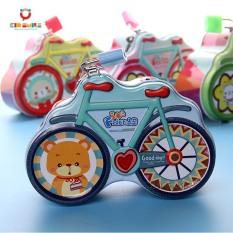 Ống heo két sắt mini tiết kiệm tiền có khóa mẫu mới hình chiếc xe đạp dễ thương rèn luyện cho bé tính tiết kiệm, đồ trang trí, đồ chơi trẻ em ngộ nghĩnh