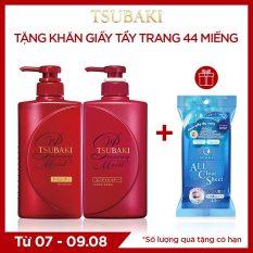 Bộ đôi dầu gội xả dưỡng tóc bóng mượt Tsubaki Premium Moist