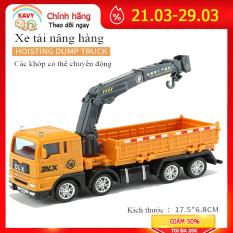 Xe đồ chơi mô hình, xe tải nâng hàng KAVY cho bé chất liệu nhựa an toàn, kích thước lớnn
