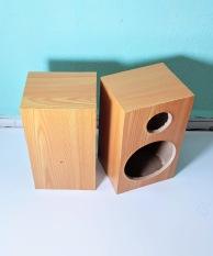 Vỏ thùng loa 8cm vân gỗ vàng. 1 cặp