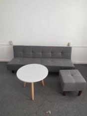 Sofa bed .Ghế giường đa năng. Kích thước 170 x 86 x 38 cm.Màu xám nhạt