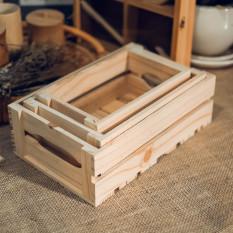 Bộ 3 két gỗ pallet đa năng – khay gỗ pallet – wood pallet