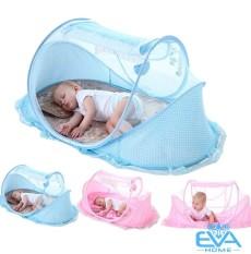 Nệm có mùng happy baby – Mùng chụp tự bung cao cấp xếp gọn tiện dụng – Màn phát nhạc cho bé – màn chống muỗi an toàn cho bé cao cấp-