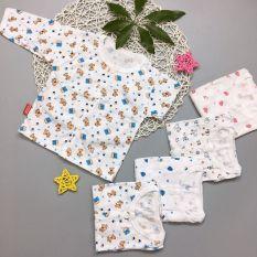 Áo dài bình sữa cotton cho bé sơ sinh 0-10kg hàng đẹp được làm từ vải cotton mỏng nhẹ an toàn cho làn da nhạy cảm của bé