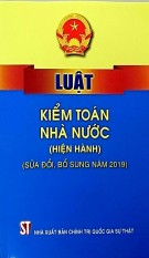 Luật Kiểm Toán Nhà Nước (Hiện hành) (Sửa đổi, bổ sưng năm 2019)