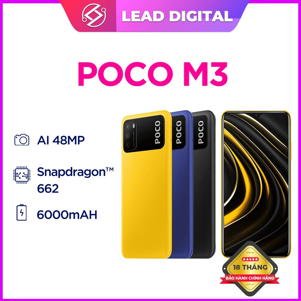 [Trả góp 0%]Điện thoại POCO M3 4GB/64GB | 4GB/128GB – FULL TIẾNG VIỆT | Chip Snapdragon 662 Màn hình 6.53″ Pin 6000mAH Sạc nhanh 18W Camera sau 48MP Android 10 MIUI 12 – BH Chính hãng 18 tháng