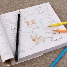 Sách tô màu 5000 hình vẽ tặng kèm hộp bút màu