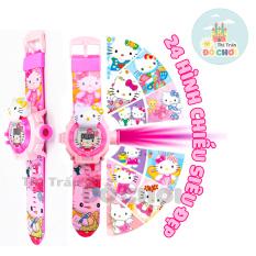 Đồ chơi trẻ em đồng hồ bé trai, đồng hồ cho bé gái mẫu siêu nhân người nhện, mẫu mèo máy dore mẫu kitttty 24 hình chiếu 3D – Thị trấn đồ chơi