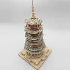 Mô hình lắp ráp gỗ 3D (KT-01) Tháp Bảy Tầng
