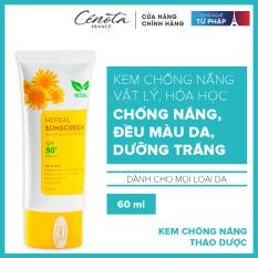 Kem chống nắng Hebal Sunscreen Cenota – Nâng toner, dưỡng ẩm, không gây bết dính cho da SPF50+/PA+++ 60ml