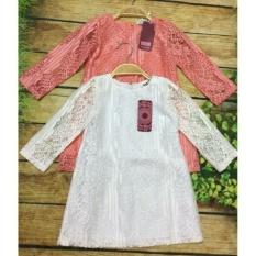 Đầm ren dáng xuông thiết kế cho bé gái 8-20kg