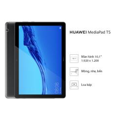 Máy tính bảng Huawei Mediapad T5 (3GB/32GB) – Chip Kirin 659 – Màn hình LCD 10.1 inch độ phân giải Full HD – Công nghệ âm thanh Dual stereo speakers – Dung lượng pin 5100 mAh – Hàng phân phối chính hãng