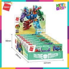 Đồ Chơi Xếp Hình Lego Cho Trẻ Qman 1414- Siêu Robot Khủng Long 456 Miếng Ghép