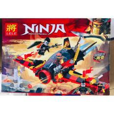 Bộ lego ninja máy bay chiến đấu đỏ (238 chi tiết)