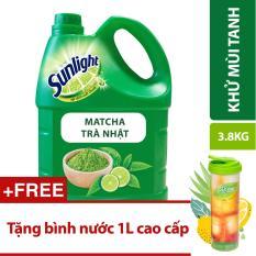 Nước rửa chén Sunlight Trà Nhật 3.8kg tặng bình nước 1L cao cấp
