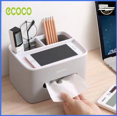 Hộp đựng giấy ăn, đựng điều khiển đa chức năng để bàn Ecoco – E1602 (03 màu lựa chọn)