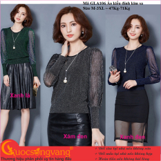 Áo nữ đẹp áo kiểu đính kim sa dài tay GLA106 Cuocsongvang