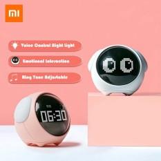 [100% Original]Xiaomi Youpin Cute Expression Pixel Alarm Clock Multi Function Digital Clock Led Voice Controlled Light Bedside Clock Home