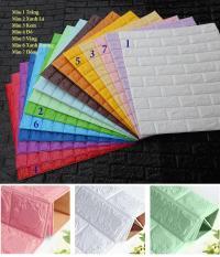 10 Tấm Xốp Dán Tường 3D Giả Gạch Dày 4mm