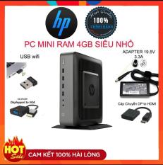 Case máy tính pc MINI HP T620 RAM 4GB và 8G,SSD 128GB Win 10-Cây mini Gamming Cực khỏe chơi game,Vp,Giải trí