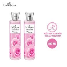 [VOUCHER 20K][Freeship]Combo 2 Nước hoa toàn thân cao cấp Enchanteur hương Princess 100ml/chai