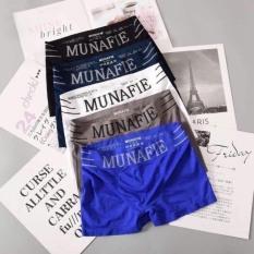 [LOẠI ĐẸP- CO GIÃN] Combo 4 quần sịp đùi MUNAFIE xuất Nhật cạp dệt sợi tre mềm mại kháng khuẩn