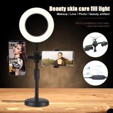Đèn livestream mini để bàn – Đèn livestream 16cm kẹp 2 điện thoại